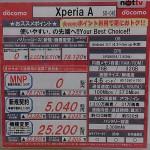 Xperia A SO-04Eの価格情報