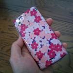 桜モデルのXperia arc用カバーレビュー